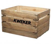 houten krat met opdruk
