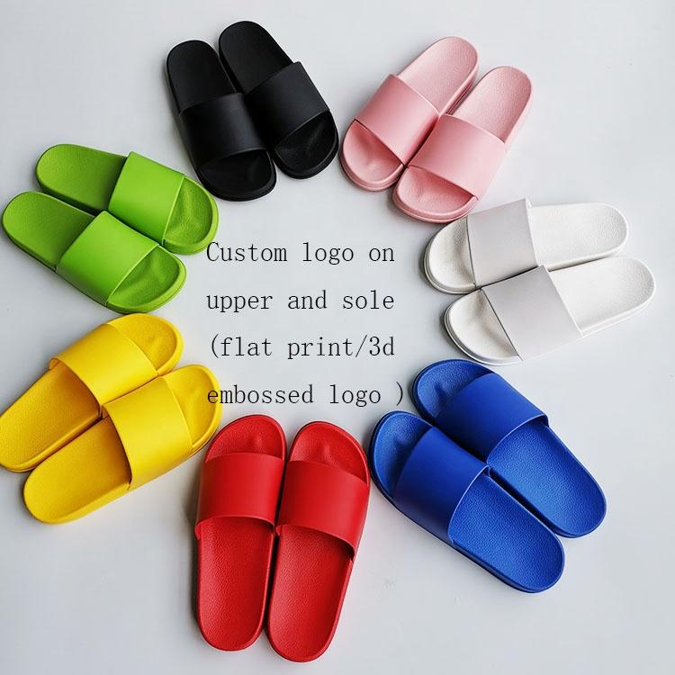 slippers met opdruk